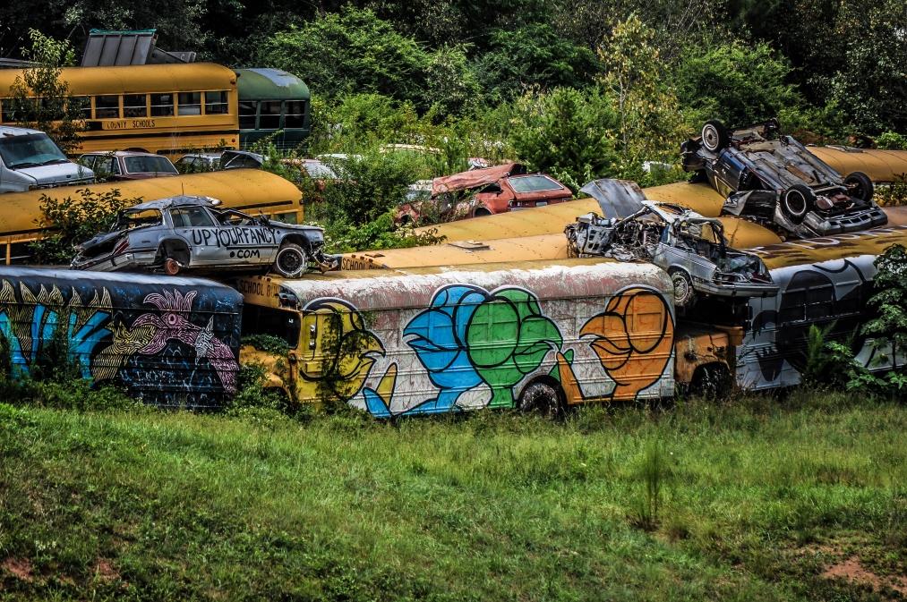 schoolbus graveyard